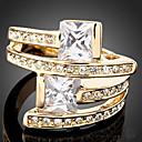 preiswerte Ringe-Damen Statement-Ring - Zirkon, Kubikzirkonia, vergoldet Luxus, Modisch Eine Größe Farbbildschirm Für Party / Diamantimitate / Aleación