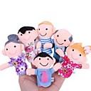 preiswerte Marionetten und Handpuppen-Actionfiguren Fingerpuppen Marionetten Niedlich lieblich Textil Plüsch Mädchen Spielzeuge Geschenk 6 pcs