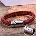 Χαμηλού Κόστους Εξατομικευμένα ρολόγια-εξατομικευμένες δερμάτινο βραχιόλι δώρο σχοινί από ανοξείδωτο χάλυβα χαραγμένα κοσμήματα