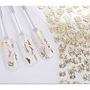 hesapli Makyaj ve Tırnak Bakımı-24 pcs Çiçek / Düğün / Moda 3D Çivi Çıkartmaları Günlük / Plastik
