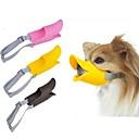 hesapli Köpek Yakalar, Kuşaklar ve Kayışlar-Köpek Ağızlık Ayarlanabilir / İçeri Çekilebilir anti Bark Güvenlik Solid Silikon Sarı Kahverengi Pembe