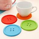 preiswerte Lupen-Moderne Silikon Kreisförmig Untersetzer Mit Mustern Tischdekorationen 1 pcs