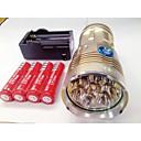 Χαμηλού Κόστους DIY Εξαρτήματα και Εργαλεία-Φακοί LED LED Cree® XM-L T6 8 Εκτοξευτές 9600lm 3 τρόπος φωτισμού με μπαταρίες και φορτιστή Αδιάβροχη Επαναφορτιζόμενο Νυχτερινή Όραση
