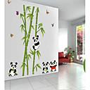 hesapli Köpek Giyim ve Aksesuarları-sevimli panda pvc duvar sticker