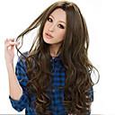 hesapli Makyaj ve Tırnak Bakımı-Sentetik Peruklar Bukle / Gevşek Dalgalar / Doğal Dalgalar Sentetik Saç 25 inç Peruk Kadın's Uzun Siyah