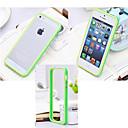 hesapli iPhone Kılıfları-Pouzdro Uyumluluk iPhone 5 Apple iPhone 5 Kılıf Şoka Dayanıklı Tampon Tek Renk Sert Silikon için iPhone SE/5s iPhone 5