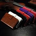 hesapli Köpek Giyim ve Aksesuarları-alcatel one touch pop c7 için standı yuvası kart cüzdan çılgın at desen pu deri tam vücut çantası (çeşitli renklerde)