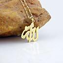 hesapli Kolyeler-Erkek / Kadın's Uçlu Kolyeler - Altın Kaplama Moda Altın Kolyeler Mücevher Uyumluluk Düğün, Parti, Günlük
