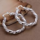 voordelige Ringen-Dames Ring oorbellen - Verzilverd Modieus Zilver Voor Feest / Dagelijks / Causaal
