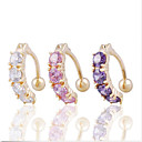 Buy Fashion Stainless Steel Zircon Navel Belly Button Ring Dancing Body Jewelry Piercing