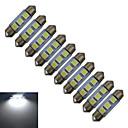 hesapli Diğer LED Işıkları-jiawen 36mm 0.5 w 60lm araba ampulleri 3 led smd 5050 okuma ışığı soğuk beyaz dc 12v