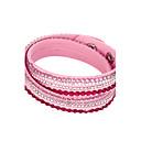 economico Bracciali-Per donna Cristallo Dell'involucro del braccialetto Bracciali in pelle Multistrato impilabile A buon mercato Donne Originale Essenziale Di tendenza Multistrato Cristallo Gioielli braccialetto Rosa