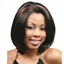 baratos Maquiagem & Produtos para Unhas-Perucas sintéticas Liso Corte Bob / Bob curto Cabelo Sintético Repartido ao Meio / Peruca Afro Americanas Preta Peruca Mulheres Curto Sem Touca Preto