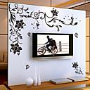 halpa Sisustustarrat-Kukkakuviot Sarjakuva Wall Tarrat Lentokone-seinätarrat Koriste-seinätarrat, Vinyyli Kodinsisustus Seinätarra Seinä