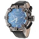 Buy JUBAOLI® Men's Capricorn Pattern Black Leather Band Quartz Wrist Watch Cool Unique