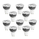 cheap LED Spotlights-10pcs 4W 400-450 lm GU10 LED Spotlight 4 leds High Power LED Dimmable Warm White Cold White White 220-240