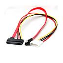 hesapli USB Kabloları-4-pin molex ide 22 pin sata güç verileri& sata portu bağlantı kablosu