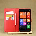 hesapli Nokia İçin Kılıflar / Kapaklar-Pouzdro Uyumluluk Nokia Lumia 1320 / Nokia Nokia Kılıf Cüzdan / Kart Tutucu / Satandlı Tam Kaplama Kılıf Solid Sert PU Deri için