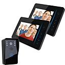 """billige Video Dørtelefonsystemer-Ennio 7 """"tft 2.4g trådløs video dørtelefon intercom dørklokke hjem sikkerhed 1 kamera 2 skærm"""