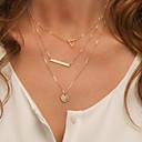 preiswerte Halsketten-Damen Layered Ketten - Simple Style Gold, Silber Modische Halsketten Schmuck Für