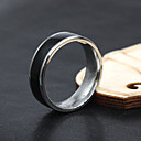 voordelige Ringen-Heren Bandring - Titanium Staal Modieus 8 / 9 / 10 Zwart Voor Feest / Dagelijks