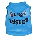 hesapli Köpek Giyim ve Aksesuarları-Kedi Köpek Tişört Köpek Giyimi Harf & Sayı Kırmzı Mavi Pembe Terylene Kostüm Evcil hayvanlar için Cosplay