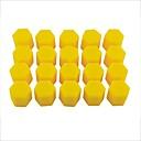 hesapli Vana Kapakları-20 adet araç oto 17mm silikon tekerlek göbeği lastikleri toz kapakları vidalı kapakları