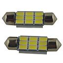 hesapli Araba İç Işıklar-2pcs 39mm / 36mm / 41mm Araba Ampul 2W SMD 5630 215lm 9 Okuma Işığı