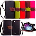 preiswerte Hüllen / Cover für Nokia-Hülle Für Wiko Wiko Hülle Kreditkartenfächer Geldbeutel mit Halterung Flipbare Hülle Ganzkörper-Gehäuse Volltonfarbe Hart PU-Leder für