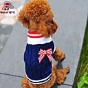 ieftine Becuri LED Bi-pin-Pisici Câine Pulovere Îmbrăcăminte Câini Nod Papion Rosu Albastru Lână polară Bumbac Costume Pentru Iarnă Cosplay Nuntă