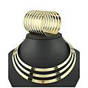 billige Mode Halskæde-Dame Smykkesæt Armbånd / Halskæder - Manchet / Vintage / Fest Cirkelformet Guld Smykke Sæt Til