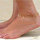 cheap Bathroom Gadgets-Women's Tassel Anklet Ladies Unique Design Tassel Fashion Anklet Jewelry For Party Daily Casual Beach