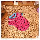 رخيصةأون أقراط-كلب T-skjorte ملابس الكلاب وردي قطن كوستيوم من أجل الصيف