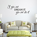 cheap Decoration Stickers-Cartoon Words & Quotes Wall Stickers Plane Wall Stickers Decorative Wall Stickers, PVC Home Decoration Wall Decal Wall