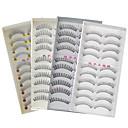 Buy 40Pairs Natural Long Thick Black False Eyelash Eyelashes Extensions Handmade Individual Lashes Makeup