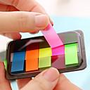 Недорогие Офисные принадлежности-коробка пакет флуоресцентный цвет самоклеящийся примечание (различный цвет)