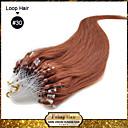 hesapli Makyaj ve Tırnak Bakımı-Febay Mikro Halkalı Saç Postişleri İnsan Saç Uzantıları Düz / Klasik Kökten Saç / Gerçek Saç