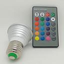 preiswerte RGB Regler-130 lm E26/E27 LED Spot Lampen 1 Leds Hochleistungs - LED Ferngesteuert RGB Wechselstrom 85-265V