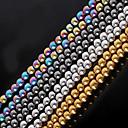 cheap Beads & Jewelry Making-DIY Jewelry Stone Gold Black Silver M Round Shape Bead DIY Necklace Bracelet