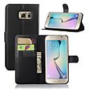 abordables Pochettes de Tablette-Coque Pour Samsung Galaxy Samsung Galaxy Coque Avec Support Avec Ouverture Coque Intégrale Couleur unie faux cuir pour S7 edge S7 S6 edge