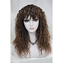 cheap Women's Watches-Synthetic Wig Curly With Bangs Synthetic Hair With Bangs Wig Women's Long Capless Brown