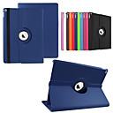 رخيصةأون أغطية أيباد-SHI CHENG DA غطاء من أجل مع حامل / دوران360ْ / أورجامي غطاء كامل للجسم لون سادة جلد PU إلى iPad Pro 12.9''