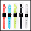 cheap Galaxy S Series Cases / Covers-Watch Band for Apple Watch Series 4/3/2/1 Apple Sport Band Silicone Wrist Strap