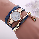 cheap Women's Watches-Women's Bracelet Watch Casual Watch / Imitation Diamond PU Band Casual / Bohemian / Fashion Black / White / Blue / One Year / Tianqiu 377