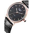 Buy Men's Fashion Genuine Leather Water Resistant Quartz Watches Wrist Watch Cool Unique