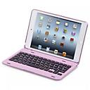 hesapli iPad Klavyeleri-Pouzdro Uyumluluk iPad Mini 4 Satandlı Klavyeli Flip Tam Kaplama Kılıf Tek Renk Sert PC için