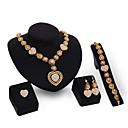 preiswerte Halsketten-Damen Schmuck-Set Schmuckset - Kubikzirkonia, 18K vergoldet Gold