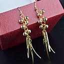 저렴한 귀걸이-여성용 비즈 비즈 서플라이 드랍 귀걸이 귀걸이 숙녀 보석류 실버 / 골든 제품 결혼식 파티 일상 캐쥬얼