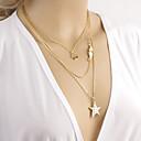 preiswerte Halsketten-Damen Mehrschichtig Layered Ketten - Simple Style, Mehrlagig Farbbildschirm Modische Halsketten Für