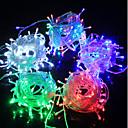 hesapli LED Şerit Işıklar-10m 100 LED'ler Sıcak Beyaz / Mavi / Yeşil Şarj Edilebilir / Su Geçirmez / Renk Değiştiren 100-240 V / IP65